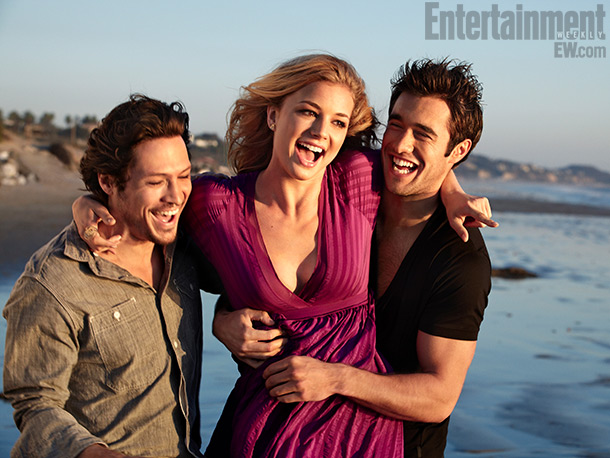 Josh and the two co-protagonists of Revenge